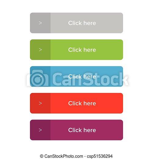 ボタン, セット, ここに かちりと鳴らしなさい - csp51536294
