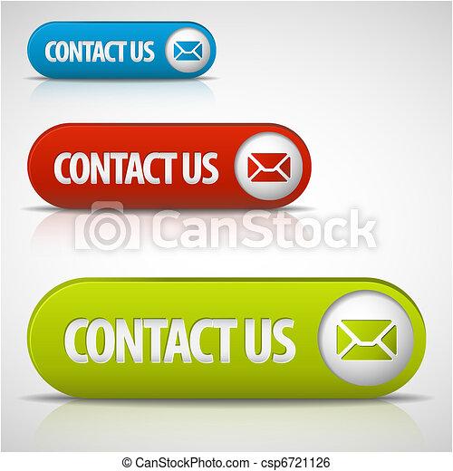 ボタン, セット, 私達, 連絡 - csp6721126