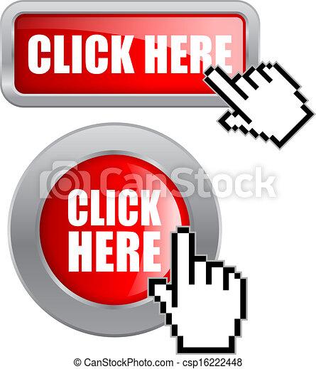 ボタン, ベクトル, ここに かちりと鳴らしなさい - csp16222448
