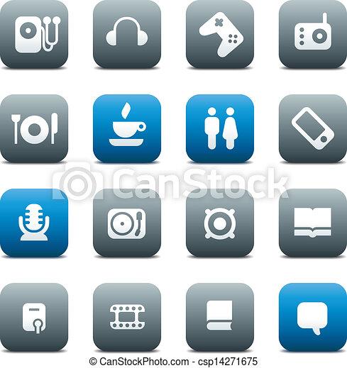 ボタン, マット, 音楽, レジャー - csp14271675