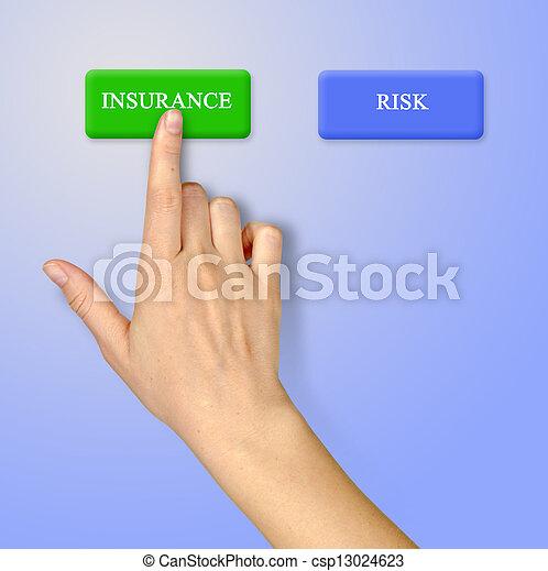 ボタン, 保険, 危険 - csp13024623
