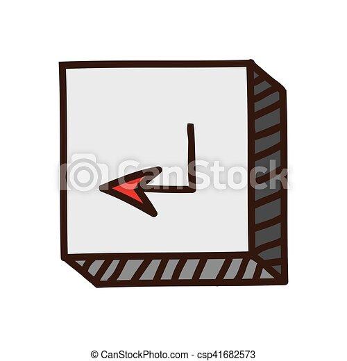 ボタン, 入りなさい, アイコン - csp41682573