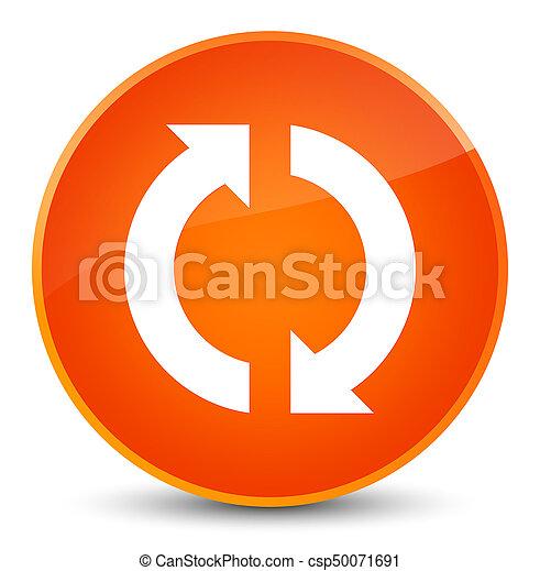 ボタン, 更新, 優雅である, オレンジ, ラウンド, アイコン - csp50071691
