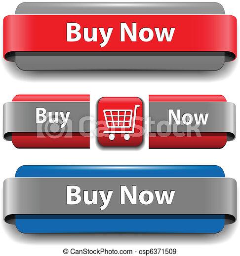 ボタン, 買い物, セット - csp6371509