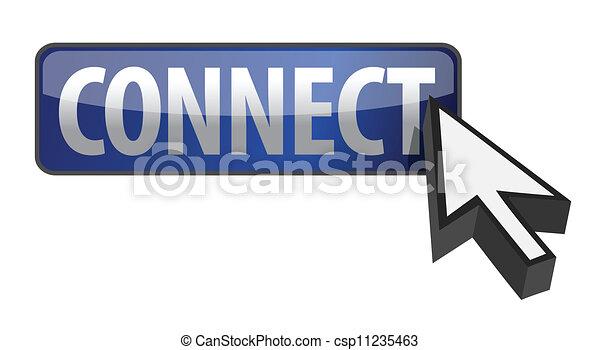 ボタン, 連結しなさい, イラスト - csp11235463