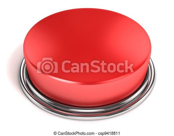 ボタン, 隔離された, 赤 - csp9418811