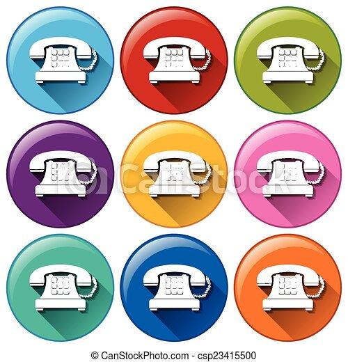 ボタン, 電話 - csp23415500