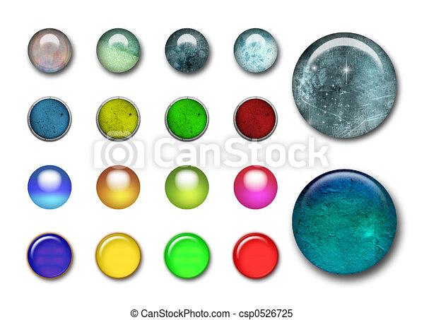 ボタン, 3d - csp0526725
