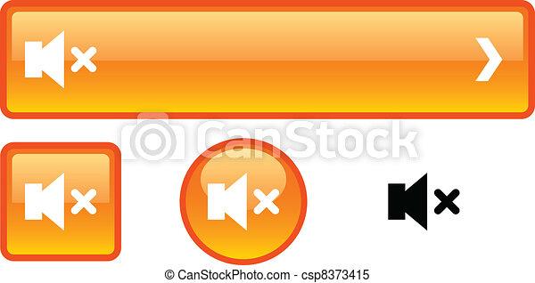 ボタン, set., 無言 - csp8373415