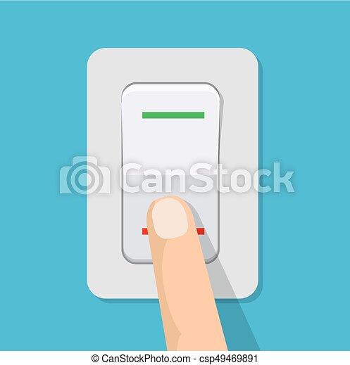 ボタン, switch., 出版物, 指. ...
