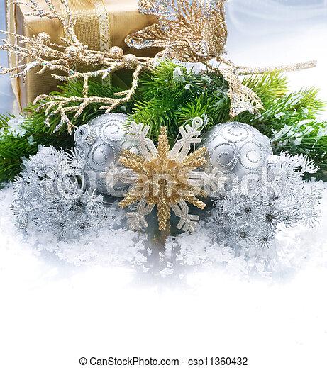 ボーダー, クリスマス - csp11360432