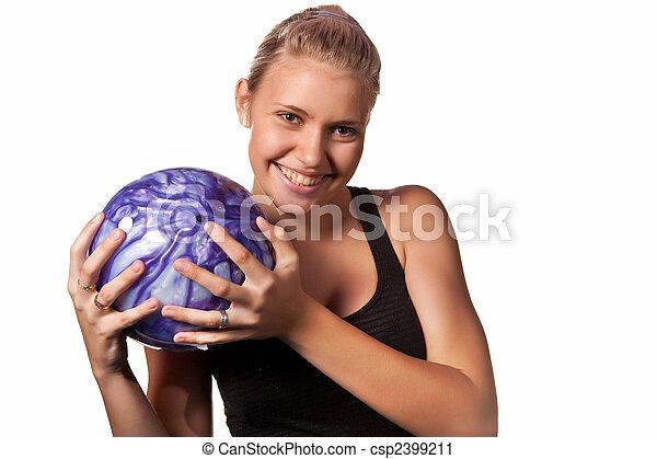 ボーリング競技者, かなり - csp2399211