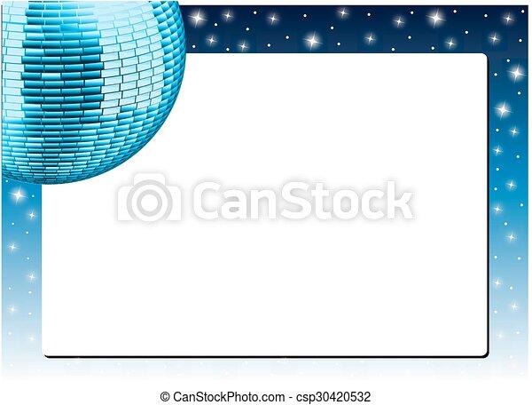 ボール, きらめき, 背景 - csp30420532