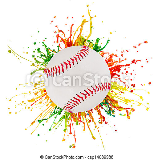 ボール, はね返し, スポーツ, カラフルである - csp14089388