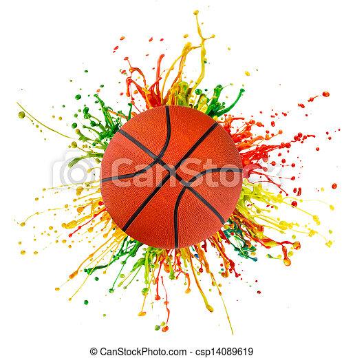 ボール, はね返し, スポーツ, カラフルである - csp14089619