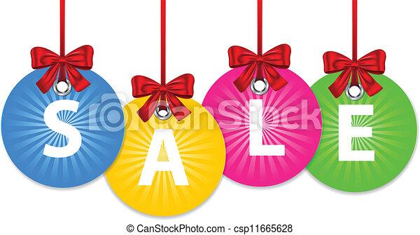 ボール, クリスマス, セール - csp11665628