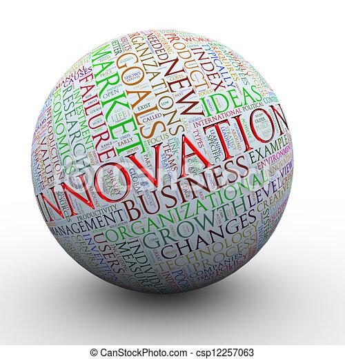 ボール, タグ, 言葉, 革新 - csp12257063