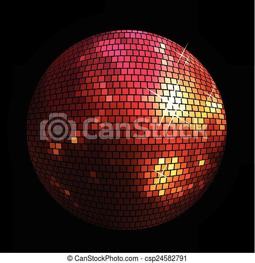 ボール, 光沢がある, 背景, ディスコ - csp24582791
