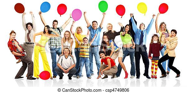 ボール, 幸せ, 人々 - csp4749806