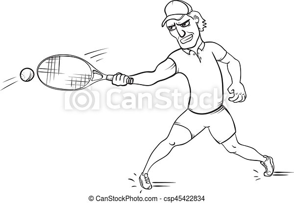 ボール 攻撃する テニス イラスト プレーヤー ベクトル ボール