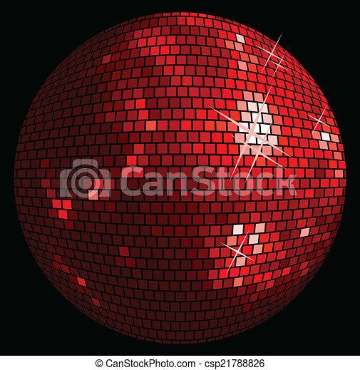 ボール, 背景, ディスコ - csp21788826