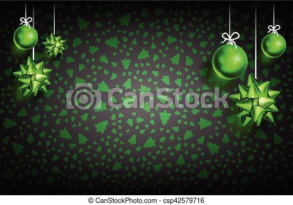 ボール, 装飾, クリスマス, background2-02 - csp42579716