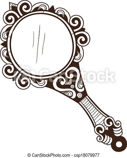 ポケット, 鏡。, 女性 - csp18079977