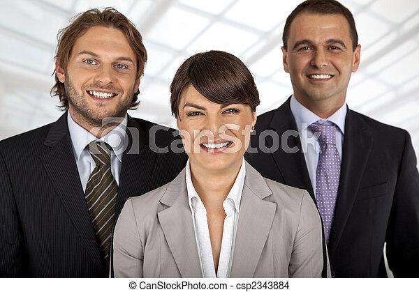 ポジティブ, 3, ビジネス チーム - csp2343884