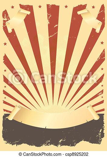 ポスター, アメリカ人, グランジ - csp8925202