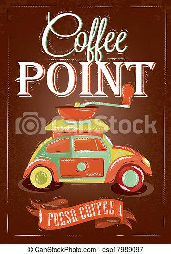 ポスター, コーヒー, レトロ, ポイント - csp17989097