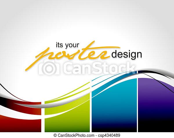 ポスター, デザイン - csp4340489