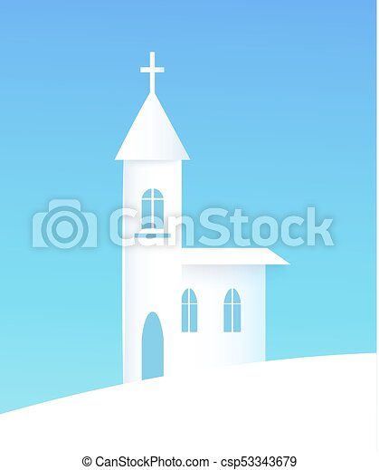 ポスター ベクトル 冬 イラスト 教会 建物 シルエット 冬 雪が