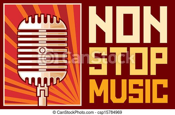 ポスター, 音楽, (microphone) - csp15784969