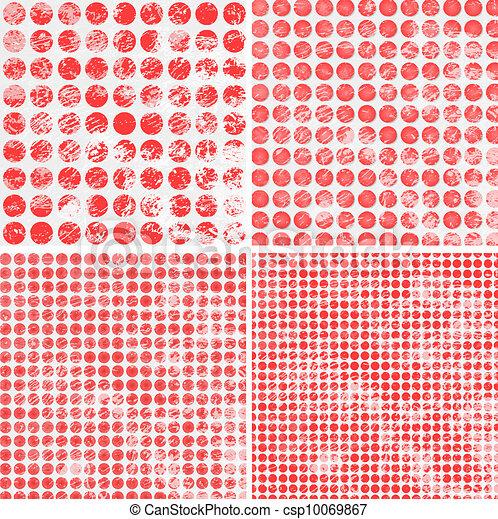 ポルカ, グランジ, 点, パターン - csp10069867