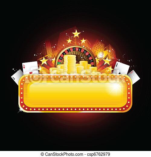 ポーカー, カジノ, 背景 - csp6762979