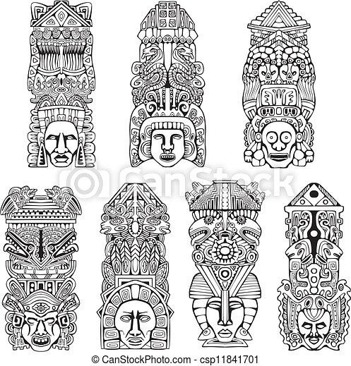 ポーランド人, aztec, トーテム - csp11841701