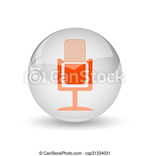 マイクロフォン, アイコン - csp31334031