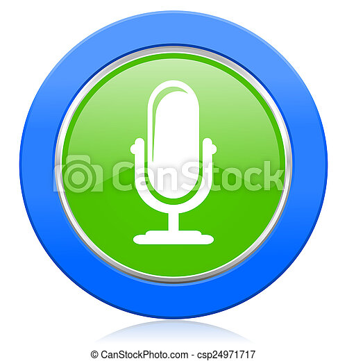 マイクロフォン, podcast, アイコン, 印 - csp24971717