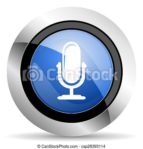 マイクロフォン, podcast, アイコン, 印 - csp28393114