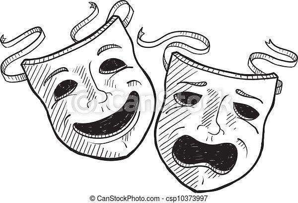 マスク, 劇, スケッチ - csp10373997