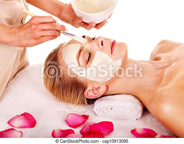 マスク, spa., 美顔術, 美しさ, 粘土 - csp10913095