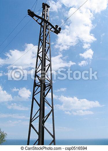 マスト, 電気である - csp0516594