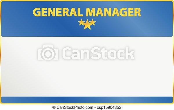 マネージャー, カード, 将官 - csp15904352