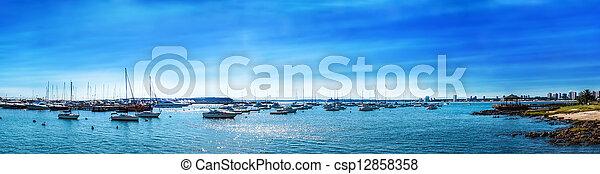 マリーナ, パノラマである, 浜 - csp12858358