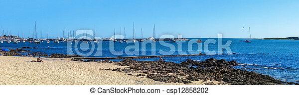 マリーナ, パノラマである, 浜 - csp12858202