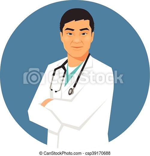 マレ, アジア人, 医者 - csp39170688