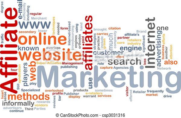 マーケティング, 単語, affiliate, 雲 - csp3031316