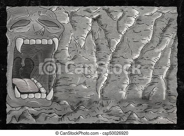 ミステリー 大洞窟 イラスト