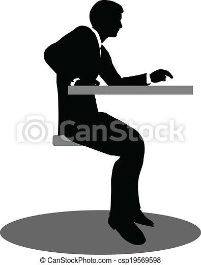 ミーティングの人々, シルエット, ビジネス, モデル - csp19569598