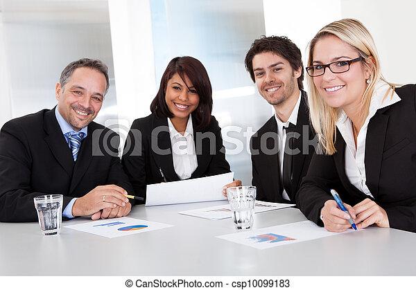 ミーティング, グループ, ビジネス 人々 - csp10099183